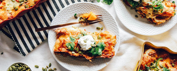 Roasted Butternut Squash & Poblano Enchiladas