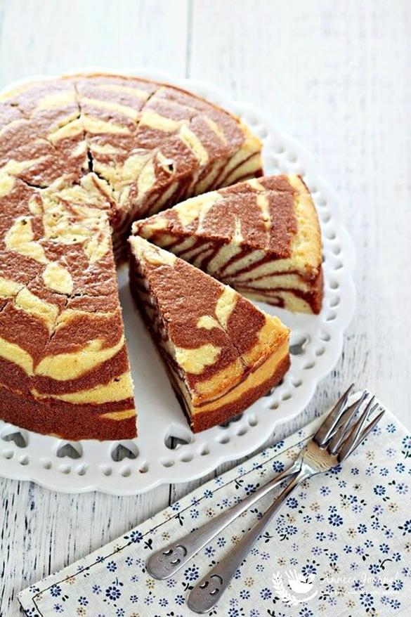 Zebra Butter Cake