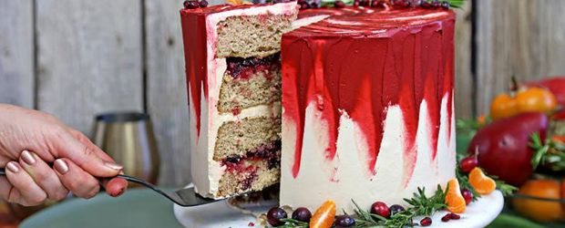 Brown Sugar Cranberry Cake