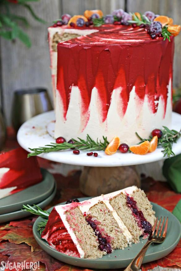 Brown Sugar Cranberry Cake