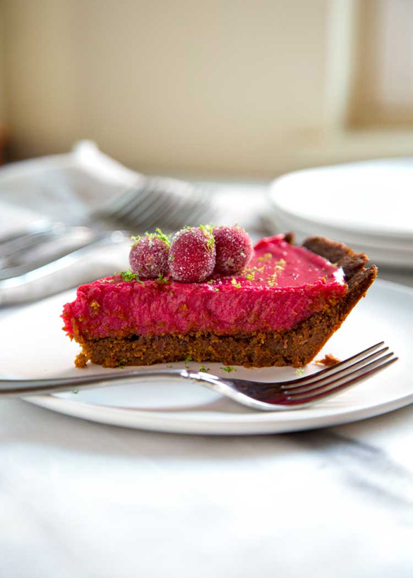 Gingersnap Cranberry Lime Pie