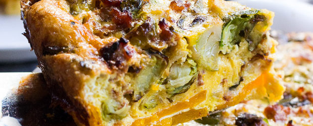 Paleo Quiche with Butternut Crust, Veggies, and Sausage2