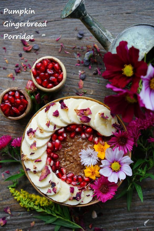 Pumpkin-Chocolate-Gingerbread Porridge