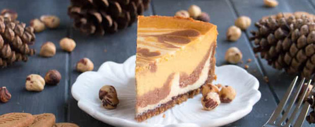 Triple Layer Pumpkin Nutella Cheesecake