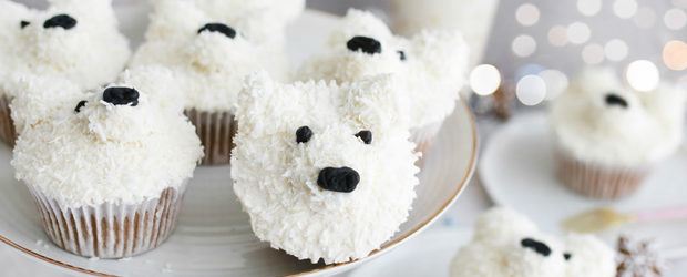 Coconut polar bear cupcakes recipe5