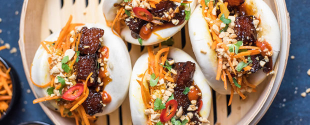 Gua Bao with Glazed Pork Belly