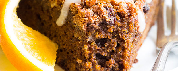 Orange Gingerbread Coffee Cake (Paleo, GF, DF)