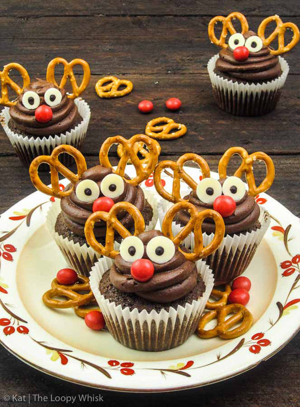 Rudolph Mexican hot chocolate cupcakes