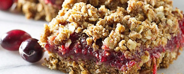 Sprouted Wheat Fresh Cranberry Bars