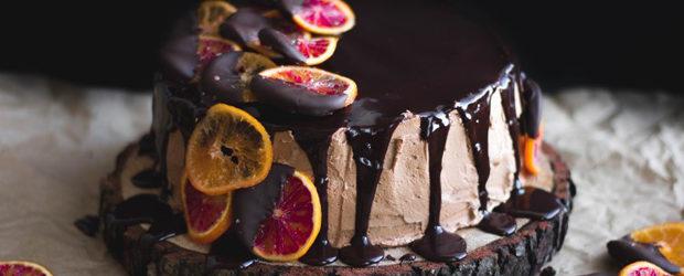 Blood Orange Chocolate Cake