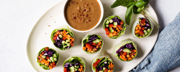 Rainbow Vegetable Spring Rolls (Vegan)