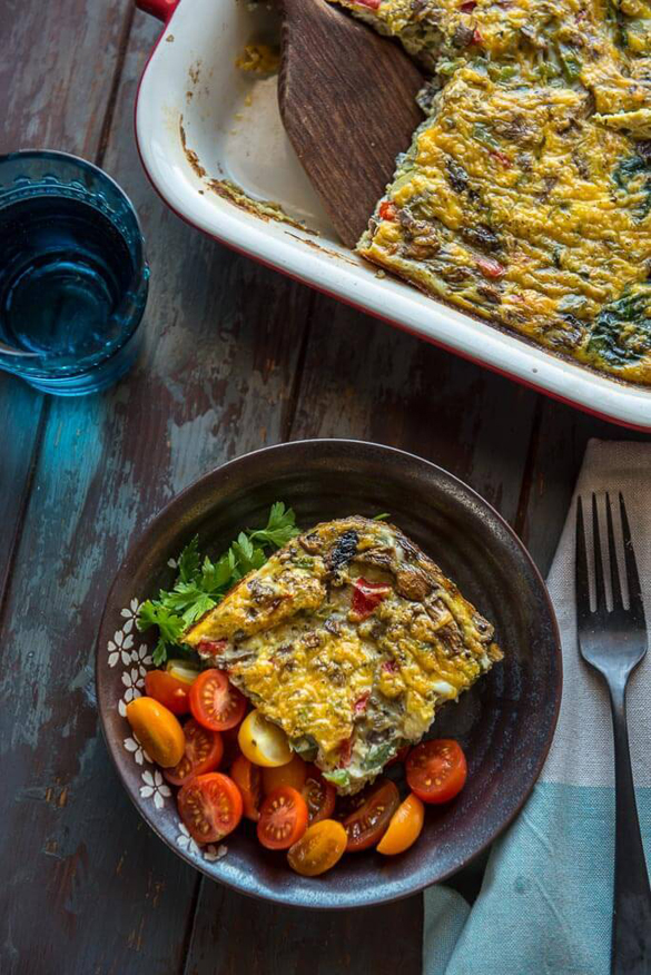 Healthy Breakfast Casserole with Vegetables
