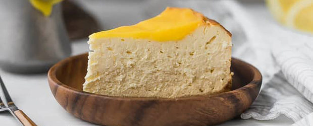 Lemon Keto Cheesecake Recipe, Low-Carb, Sugar-Free, Gluten-Free