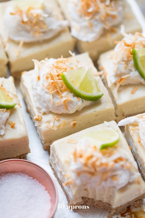 No Bake Margarita Bars (Vegan, Paleo)