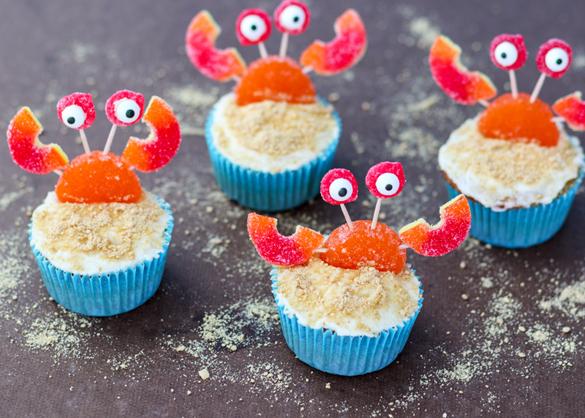 Beach Crab Cupcakes