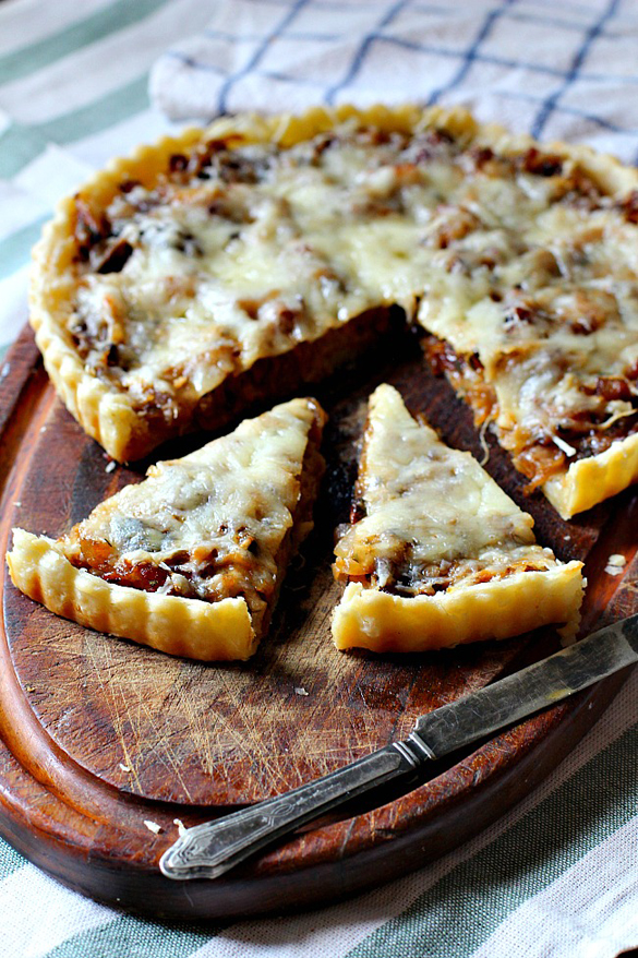 Caramelized Onion Tart with Gruyere, Bacon and Thyme