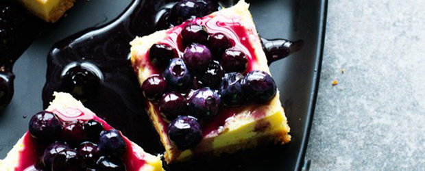 Cheesecake Bars with Homemade Blueberry Topping
