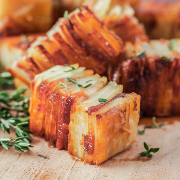 Potato Pave With Bacon And Parmesan Fancy Edibles Com