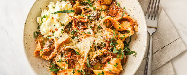 Short Rib Ragu with Pappardelle and Ricotta