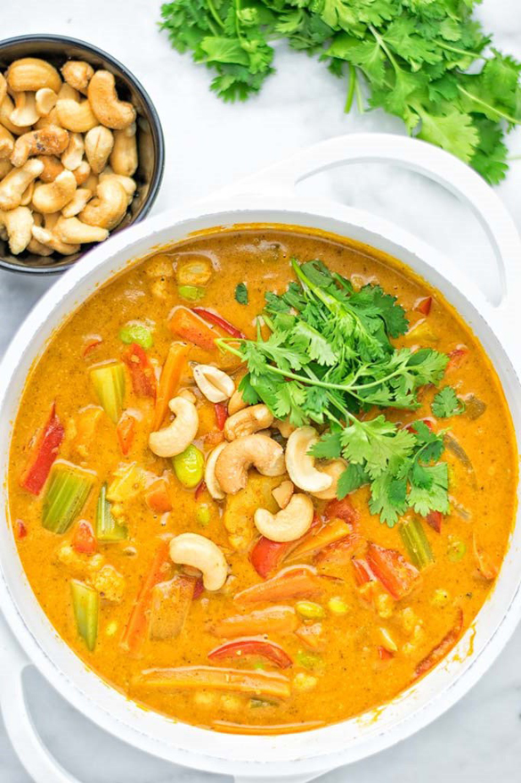 Vegetable Korma (easiest one pot curry ever)