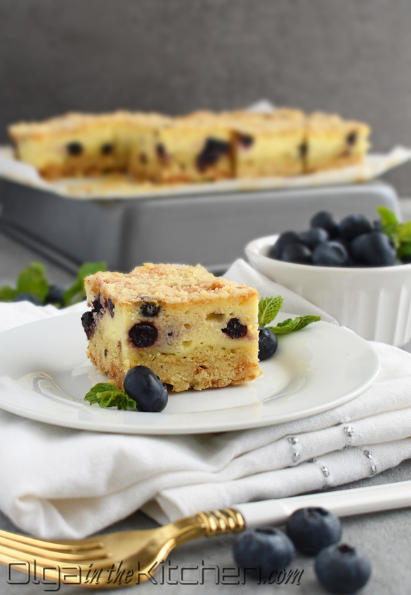 Farmer's Cheese Blueberry Crumb Cake