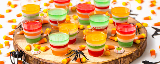 Halloween vodka Jell-O Shots