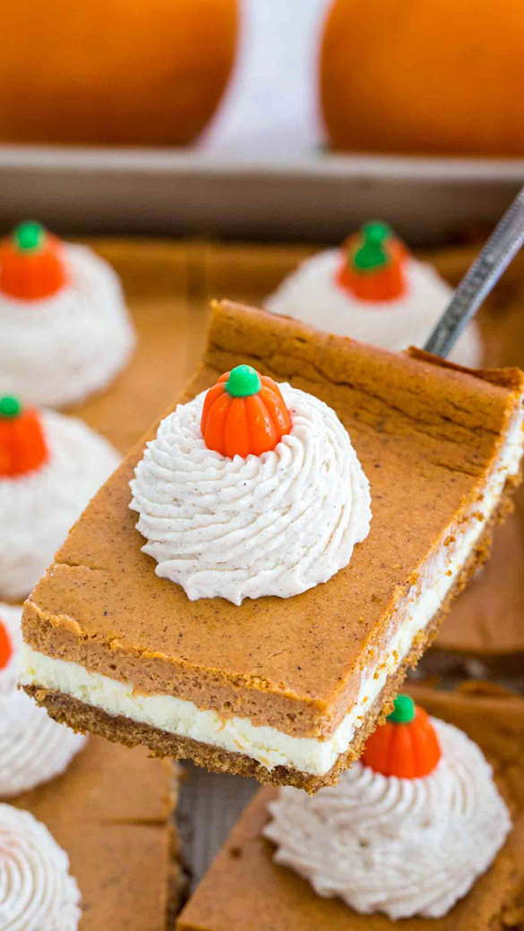 The Ultimate Pumpkin Cheesecake Bars