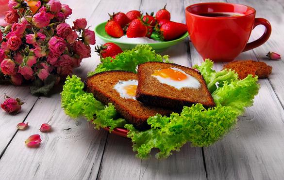 Kings breakfast. Very tasty fried eggs in toast