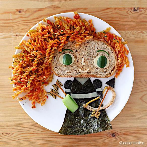 Princess Merida foodart by Lee Samantha