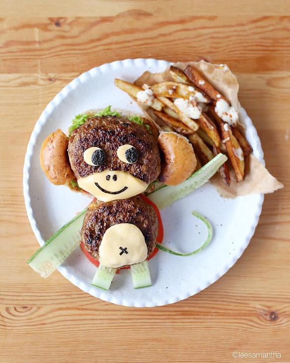 Swing like a monkey food art by Lee Samantha