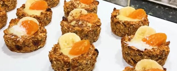 Tasty Dessert with no sugar, no flour, no eggs. Healthy breakfast!